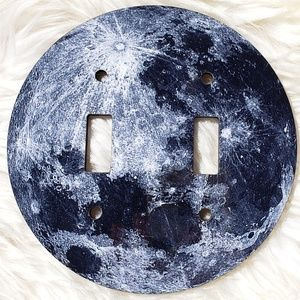 Other - Child's Moon/Outer Space Double Light Switch Cover